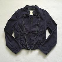 Fossil Navy Blue Green Cotton Unlined Military Inspired Pocket Jacket Blazer S Photo