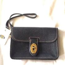Fossil Navy Blue Leather Austin Iphone Wristlet Wallet 60 Nwt Photo
