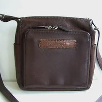 Fossil 'New American Classic' 1954 Brown Leather Organizer Crossbody Bag 75082 Photo
