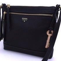 Fossil New Gift Crossbody Black Msrp 128 Photo