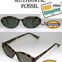 Fossil Norma Sunglass Plastic Tortoise Shell W/gray Lenses Flex-Hinge Under 30 Photo
