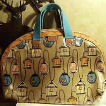 Fossil Nwt Bird Cage Cosmetic Bag-Purse Photo