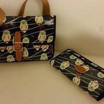 Fossil Nwt Snow Owl Keyper Mini Cross Body Bag Purse Clutch and Wallet Photo