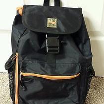 Fossil Nylon Backpack Black and Orange  Photo
