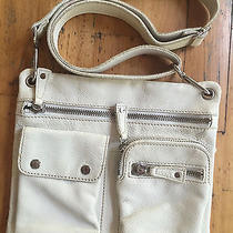 Fossil Off White Leather Cross Body Purse Photo