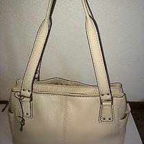 Fossil Off-White Leather Handbag Photo