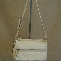 Fossil / Off White Leather Hobo Bag Photo
