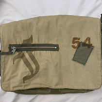 Fossil Olive Green Cotton Canvas Carry All Book Bag Crossbody Tote Messenger  Photo
