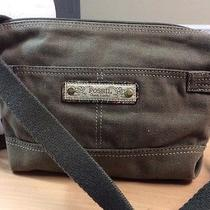Fossil Olive Green Fabric Canvas Cross-Body Shoulder Bag Photo