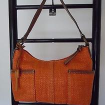 Fossil Orange & Brown  Hobo  Little Bag Bag Photo
