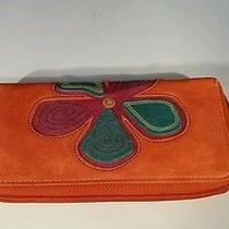 Fossil Orange Leather Wallet Photo