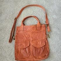 Fossil Orange Modern Cargo Convertible Tote Crossbody Messenger Bag  Photo