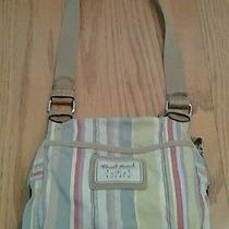 Fossil Organizer Striped Multi Color Purse  Shoulder Hand Bag Preowned Photo