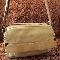 Fossil Original Beige Canvas Messenger Organizer Crossbody Shoulder Bag Purse Photo