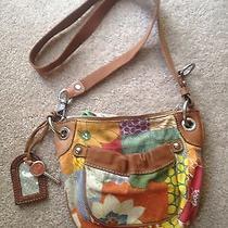 Fossil Original Brand Purse Canvas Messenger Crossbody Shoulder Handbag Key Photo