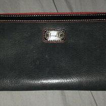 Fossil Oversized Zip Around Leather Travel Wallet Euc Photo