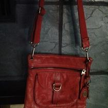 Fossil Paprika Crossbody Messenger Bag Vintage Leather Photo