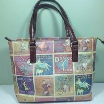 Fossil Paris Tote Bag Vtg French Vogue Models Handbag Photo