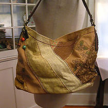 Fossil Patchwork Canvas & Leather Tote Shopper Photo