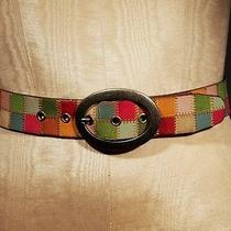 Fossil Patchwork Leather Belt Photo