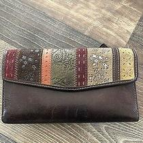 Fossil Patchwork Leather Wallet/checkbook Cover Photo