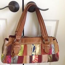 Fossil Patchwork Satchel Leather and Suede Photo