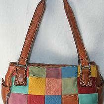 Fossil Patchwork Shoulder Bag Tote Purse Zb9932 Photo