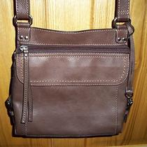 Fossil Pebbled Leather Crossbody Organizer Handbag Barely Used Photo