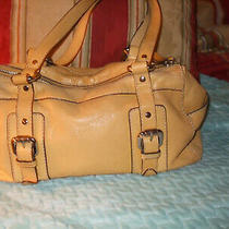 Fossil Pebbled Leather Light Yellow Shoulder Bag Purse Photo