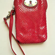 Fossil Perfect Carryall Fuchsia Pink Camera or Cell Phone Wristlet Nwt Photo