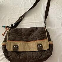 Fossil Perfect Laptop Messenger Bag Brown Crossbody Tote Photo