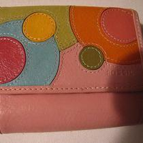 Fossil Pink Abstract Circles Leather Wallet  Cute Photo