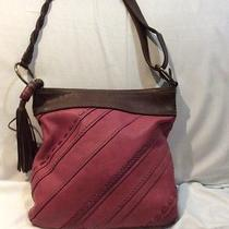 Fossil Pink and Brown Leather Crossbody Handbag Photo