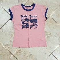 Fossil Pink Bikini Beach T Shirt Small Sm S Tee Ringer Photo