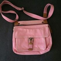 Fossil Pink Canvas Messenger Bag Photo