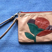 Fossil Pink/ Floral Zip Wristlet Wallet 4.5x 6.5 Photo