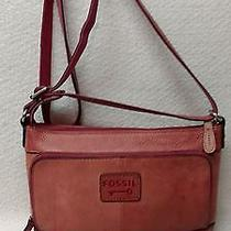 Fossil Pink Leather Crossbody/messenger Photo