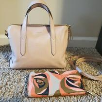 Fossil Pink Leather Sydney Satchel & Wallet  Photo