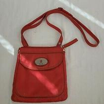Fossil Pink Pebbled Leather Crossbody Shoulder Bag Photo