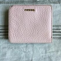 Fossil Pink Pebbled Leather Snap Close Wallet Bills/cc/id/zip Coin Sweet Wallet Photo