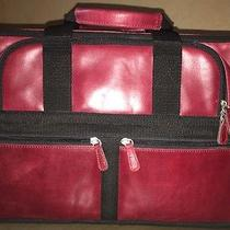 Fossil Portfolio Briefcase Red Genuine Leather Photo