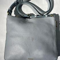 Fossil Preston Powder Blue Leather Crossbody Messenger Bag Handbag Zb5874 Photo