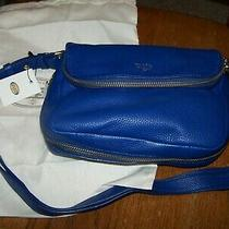 Fossil Preston Royal Blue Crossbody Purse Small Flat New With Tag  and Dust Bag Photo