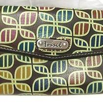 Fossil Printed Leather Clutch  Wallet Photo