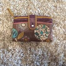 Fossil Purple and Patterned Wallet Photo