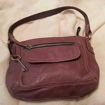 Fossil Purple Leather Handbag Photo