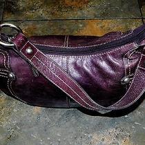 Fossil Purple Leather Hobo Bag - It's Purple Photo