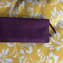 Fossil Purple Leather Wallet Photo