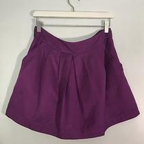 Fossil Purple Mini Skirt Pockets Front Pleats Medium M Fully Lined Women's Fall Photo