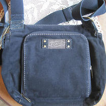 Fossil  Purse Black Cloth Messenger Photo